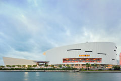 American Airlines Arena in Midtown Miami. MIAMI, FL - DECEMBER 31 2014 - Miami's central art district in the Wynwood and Edgewater neighborhoods features an Royalty Free Stock Image