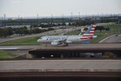 American Airlines au Dallas-fort en valeur l'aéroport international dans le Texas Photo stock