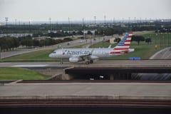 American Airlines au Dallas-fort en valeur l'aéroport international dans le Texas Photographie stock