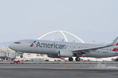American Airlines Boeing 737 Immagine Stock