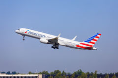 American Airlines Boeing 757 Image stock