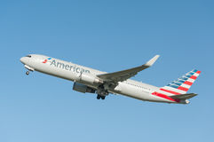 American Airlines Boeing 767 Immagini Stock