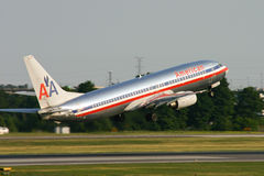 American Airlines Boeing 737 Imagens de Stock Royalty Free