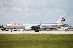 American Airlines Boeing 757 Royalty Free Stock Photo