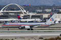 American Airlines Boeing 757-200 Photos libres de droits