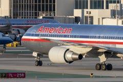 American Airlines Boeing 767 avions à l'aéroport international de Los Angeles Photographie stock