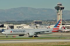 American Airlines Boeing B-777-323ER N727AN Royalty Free Stock Photos