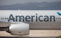 American Airlines Boeing 777-200ER Fuselage Stock Image