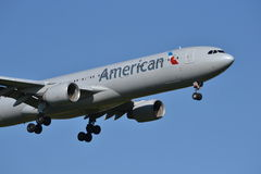 American Airlines Boeing 777 airplane Stock Photo