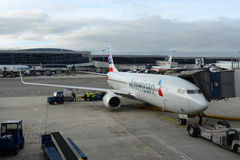 American Airlines Boeing 737 at JFK Airport Stock Photography