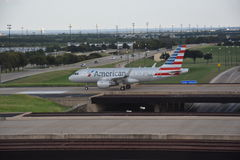 American Airlines at Dallas-Fort Worth International Airport in Texas Stock Photography