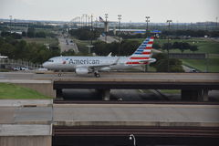 American Airlines at Dallas-Fort Worth International Airport in Texas Royalty Free Stock Photos