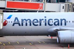 American Airlines detalj royaltyfri bild