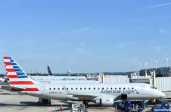 American Airlines Eagle Airplane Photo stock