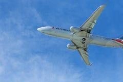 American Airlines echa en chorro Imagen de archivo libre de regalías