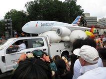 American Airlines flottent chez Pride Parade dans le Washington DC Images stock