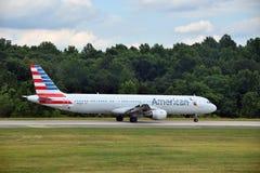 American Airlines flygbuss A-321 Arkivbild