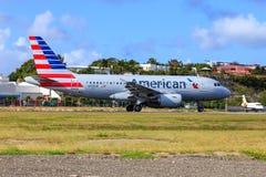 American Airlines flygbuss A319 Arkivbild