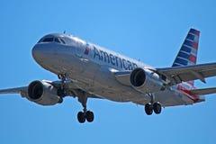 American Airlines flygbuss A319-100 N752US Fotografering för Bildbyråer