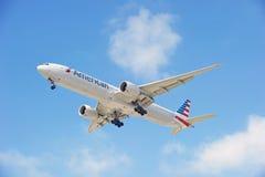 American Airlines Handlowy samolot Obrazy Royalty Free