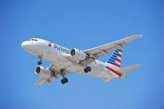 American Airlines Handlowy samolot Obrazy Stock