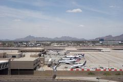American Airlines i PHX, AZ Arkivfoto