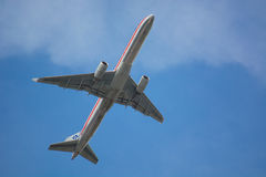 American Airlines Jet in flight Royalty Free Stock Photos