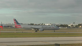 American Airlines jet stock video