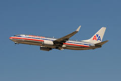 American Airlines jet taking off Royalty Free Stock Images