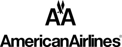 American Airlines logo icon. American Airlines, Inc. is a major United States airline headquartered in Fort Worth, Texas, within the Dallas-Fort Worth metroplex vector illustration