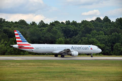 American Airlines-Luchtbus a-321 stock fotografie