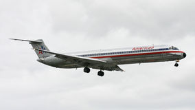 American Airlines MD-80 Plane Stock Images