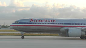 American Airlines passenger jet stock video footage