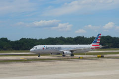 American Airlines plane Royalty Free Stock Images