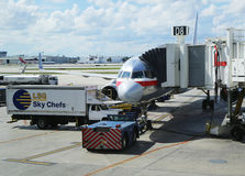 American Airlines plane on tarmac at Miami International Airport Stock Photo