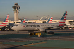 American Airlines planieren an LOCKEREM Lizenzfreie Stockfotografie