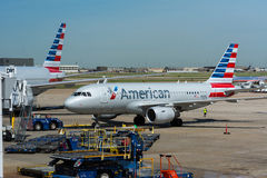 American Airlines samoloty Obrazy Stock