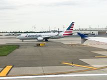 American Airlines Taxiing pas startowego Fotografia Stock