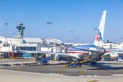 American Airlines voyagent en jet Boeing 767 Image libre de droits