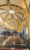American airport terminal hall Royalty Free Stock Image