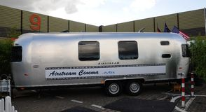 American Airsream mobile home Stock Photo
