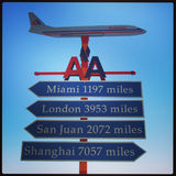 American Airways. The American Airways destination sign Royalty Free Stock Images