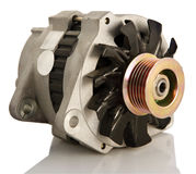 American alternator. Generic electric automotive alternator isolated royalty free stock images