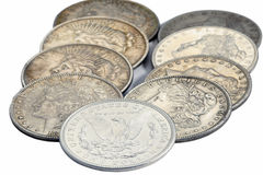 American ancient coins Royalty Free Stock Image