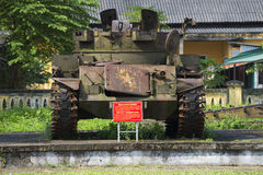 American anti-aircraft tank during the Vietnam war Museum in the city of Hue. Vietnam Royalty Free Stock Photo