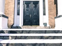 American apartment house front Stock Photography