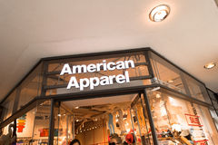 American Apparel. Entrance to the American Apparel store in munich Royalty Free Stock Photo