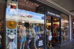 American Apparel fashion store  at the Ala Moana Center. HONOLULU - AUGUST 7, 2014: American Apparel fashion store  at the Ala Moana Center on August 7, 2014 Royalty Free Stock Photos