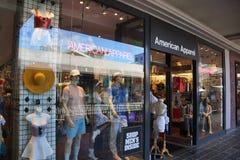 American Apparel fasonuje sklep przy ałunu Moana centrum Zdjęcia Royalty Free