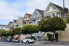 Painted Ladies, San Francisco, California stock photo
